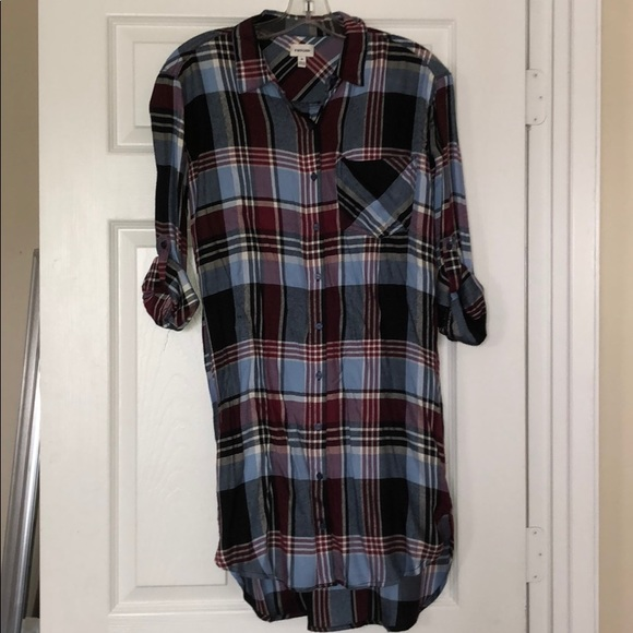 Sneak Peek Dresses & Skirts - Brand New Plaid Shirtdress